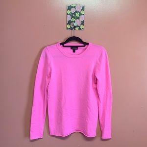 J. Crew Italian Cashmere Pink Long Sleeved Tshirt